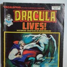 Cómics: ESCALOFRIO Nº 11 - DRACULA LIVES Nº 3 - HISTORIA SOLOMON KANE. Lote 227549430