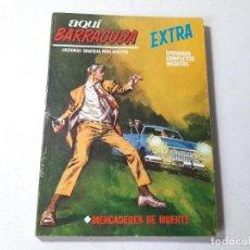 Fumetti: VERTICE - EDICIONES INTERNACIONALES - AQUI BARRACUDA EXTRA - Nº 12 MERCADERES DE MUERTE AÑO 1968. Lote 227602005