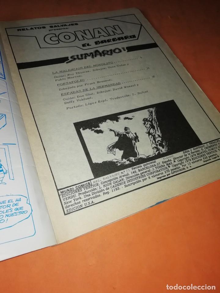 Cómics: RELATOS SALVAJES. CONAN EL BARBARO.LA MALDICION DEL MONOLITO. VOL 1 Nº 73. 1978 - Foto 4 - 227700459