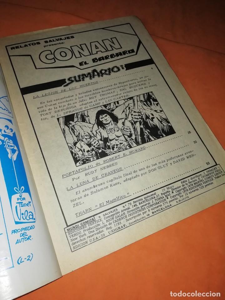 Cómics: RELATOS SALVAJES. CONAN EL BARBARO. LA LEGION DE LOS MUERTOS . VOL 1 Nº 79. 1978 - Foto 5 - 227831960