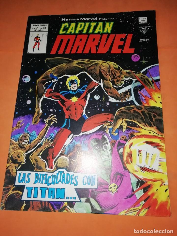 CAPITAN MARVEL. VOL 2 Nº 59 . LAS DIFICULTADES CON TITAN. EDICIONES VERTICE. (Tebeos y Comics - Vértice - V.2)
