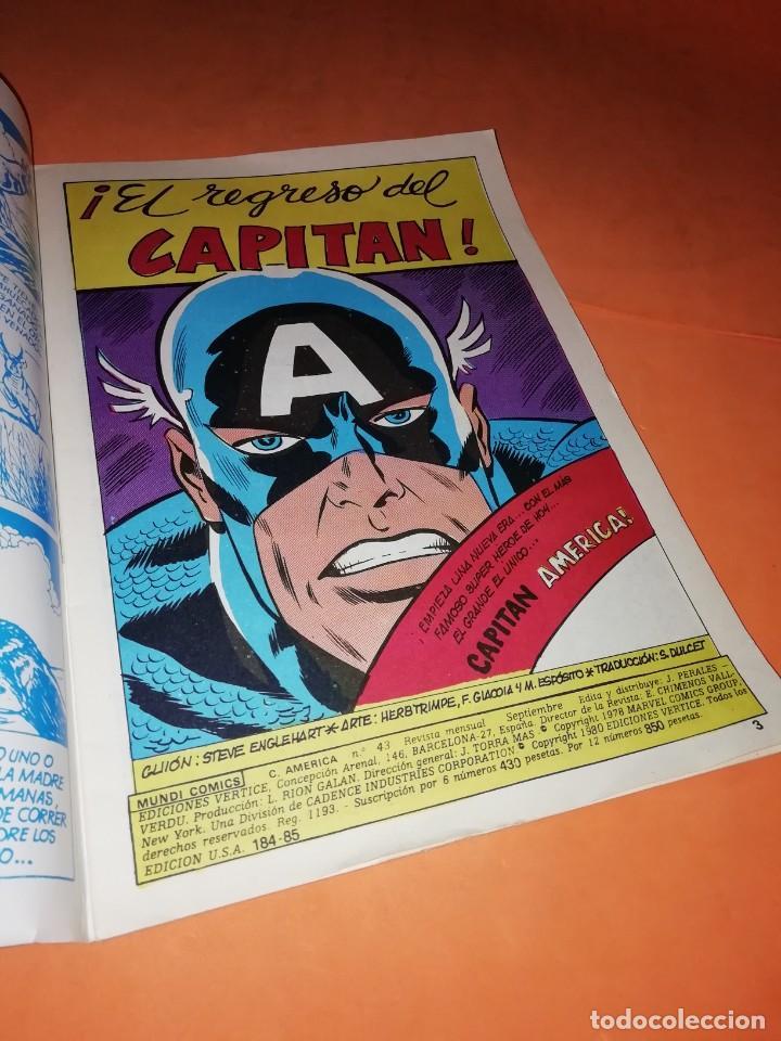 Cómics: CAPITAN AMERICA. VOL 3 Nº 43. EL REGRESO DEL CAPITAN . EDICIONES VERTICE. - Foto 4 - 228020425