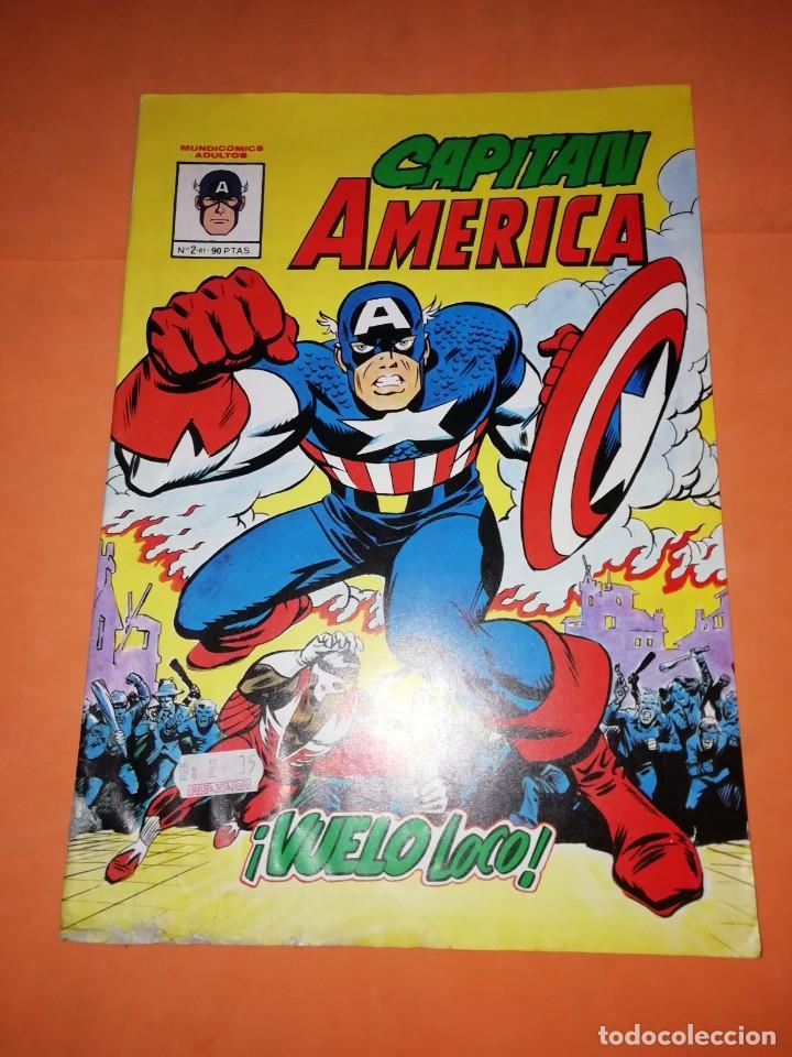 CAPITAN AMERICA. Nº 2. VUELO LOCO . EDICIONES VERTICE. (Tebeos y Comics - Vértice - Capitán América)