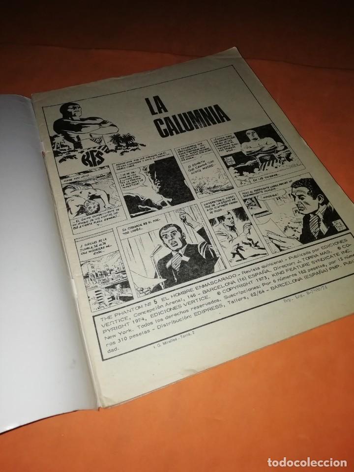 Cómics: EL HOMBRE ENMASCARADO. Nº 5 . EDICIONES VERTICE 1974 - Foto 5 - 228156913