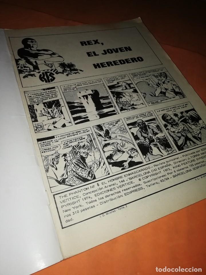 Cómics: EL HOMBRE ENMASCARADO. Nº 6 . EDICIONES VERTICE 1974 - Foto 6 - 228158395