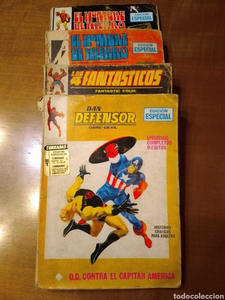 LOTE DE 4 COMICS VÉRTICE TACO DAN DEFENSOR LOS 4 FANTÁSTICOS EL HOMBRE DE HIERRO (Tebeos y Comics - Vértice - Hombre de Hierro)