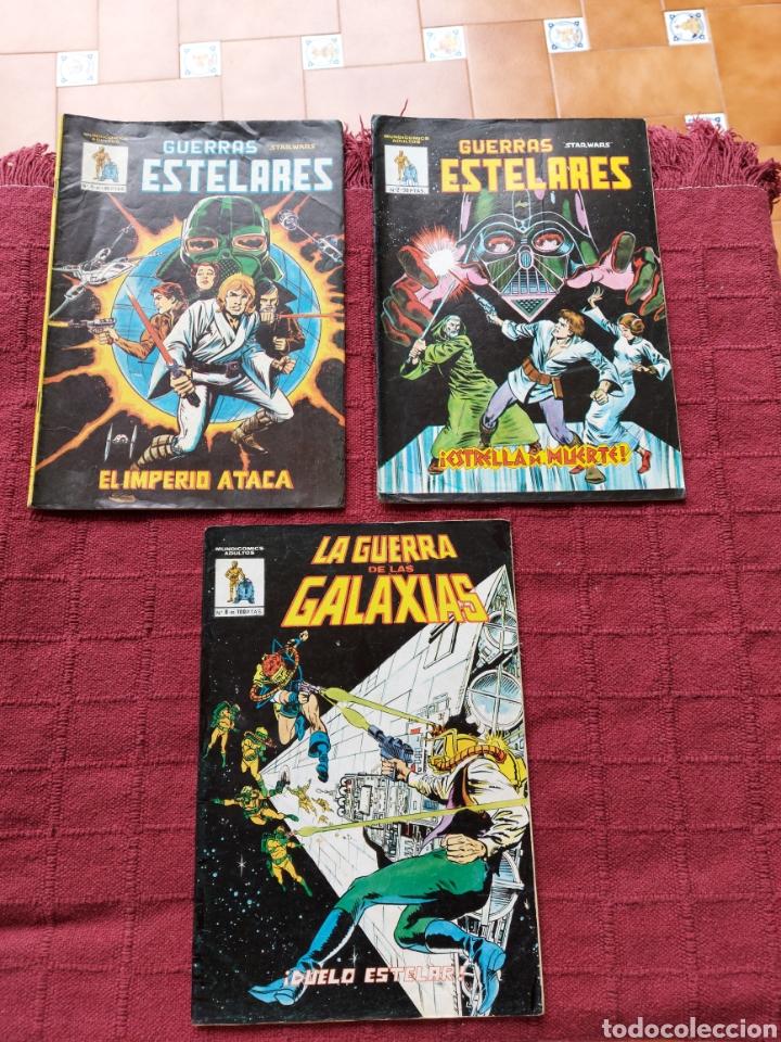 COMIC DE LA GERRA DE LAS GALAXIAS GUERRAS ESTELARES NUMEROS 1,2 Y 8 STAR WARS VERTICE/CIENCIA FICCIÓ (Tebeos y Comics - Vértice - Grapa)
