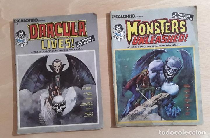ESCALOFRIOS N° 3 Y 4 EDICIONES VERTICE 1973 (Tebeos y Comics - Vértice - Otros)