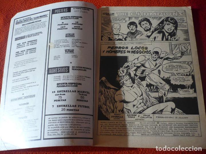 Cómics: SUPER HEROES VOL. 1 Nº 75 THE CHAMPIONS VERTICE MUNDI COMICS - Foto 4 - 232832555