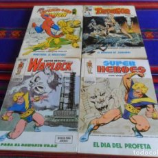 Cómics: VÉRTICE VOL. 1 SUPER HÉROES NºS 1 5 WARLOCK 9 THONGOR 10 SPIDERMAN LA VISIÓN. 1973. 30 PTS. BE.. Lote 233305845