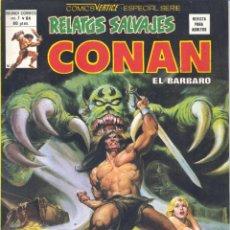 Cómics: CONAN Nº84. RELATOS SALVAJES. EDITORIAL VÉRTICE, 1974. Lote 234391985