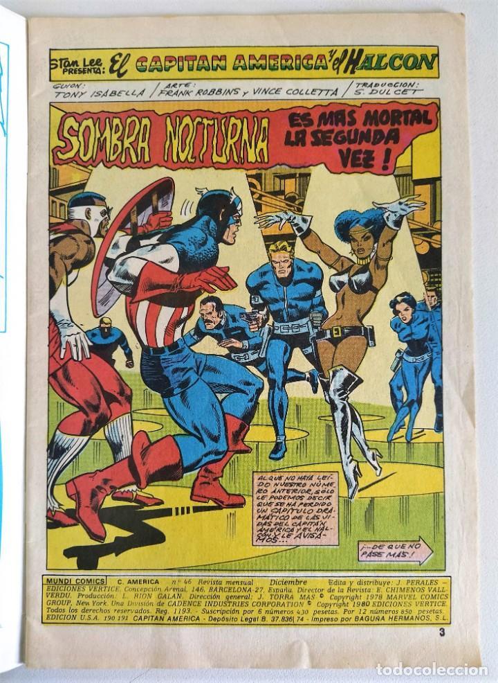 Cómics: CAPITÁN AMERICA VOL.3 Nº 46 (A COLOR) ~ MARVEL / MUNDI-COMICS (1979) - Foto 2 - 235340710