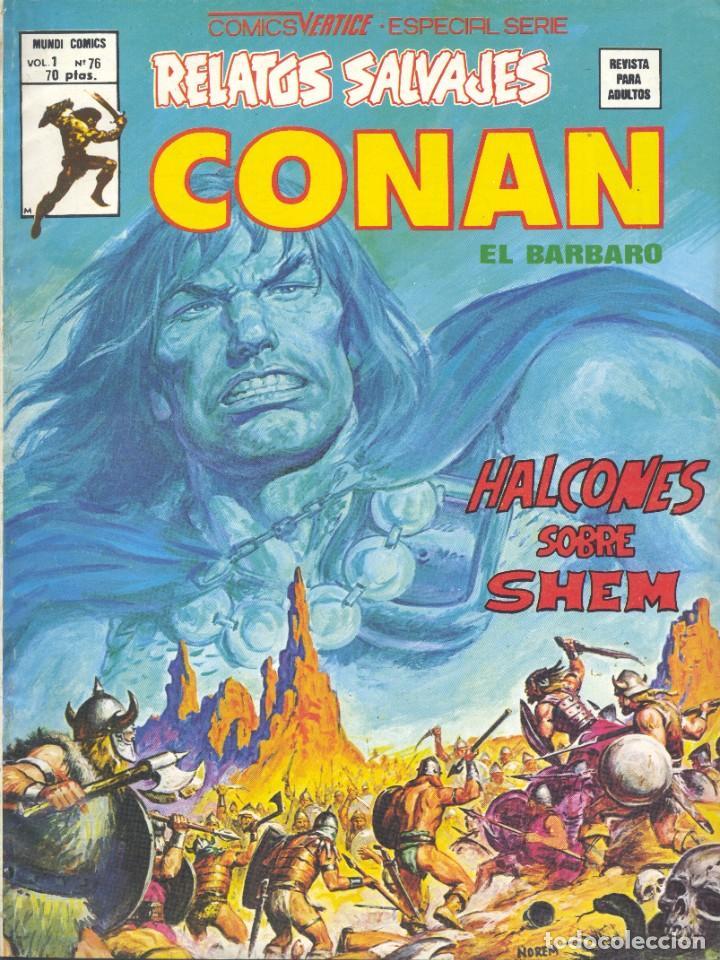 CONAN Nº76. EDITORIAL VÉRTICE, 1976. ROY THOMAS, BUSCEMA Y ALFREDO ALCALÁ (Tebeos y Comics - Vértice - Conan)