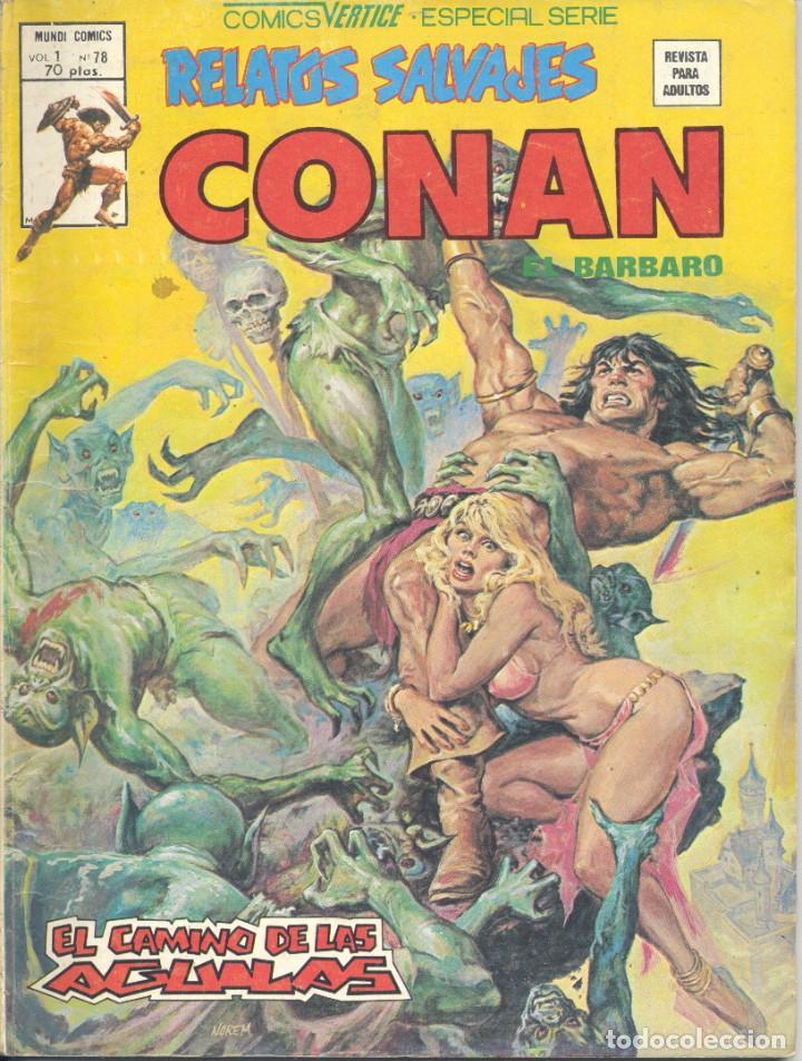 CONAN Nº78. BERTICE, 1978. BUSCEMA Y ZUÑIGA (Tebeos y Comics - Vértice - Conan)