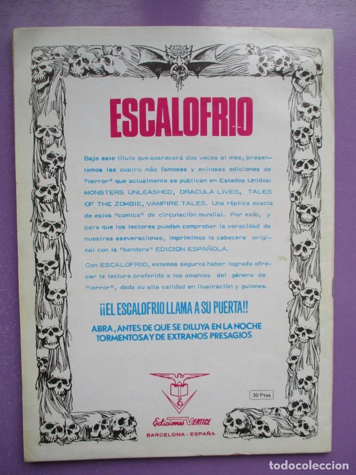 Cómics: ESCALOFRIO Nº 1 VERTICE ¡¡¡¡¡ BUEN ESTADO!!!! - Foto 2 - 237173035