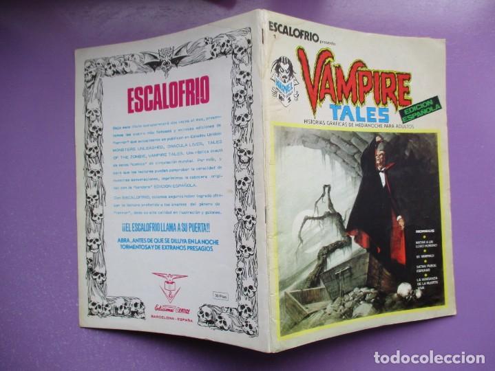 Cómics: ESCALOFRIO Nº 1 VERTICE ¡¡¡¡¡ BUEN ESTADO!!!! - Foto 3 - 237173035