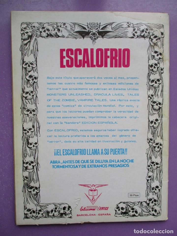 Cómics: ESCALOFRIO Nº 2 VERTICE ¡¡¡¡¡ BUEN ESTADO!!!! - Foto 2 - 237173535