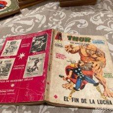 Cómics: THOR Nº 11 EL FIN DE LA LUCHA - VOL 1 -VERTICE 1971. Lote 237353490