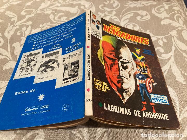 LOS VENGADORES VOL 1 Nº 26 LAGRIMAS DE ANDROIDE - VERTICE 1971 (Tebeos y Comics - Vértice - Vengadores)