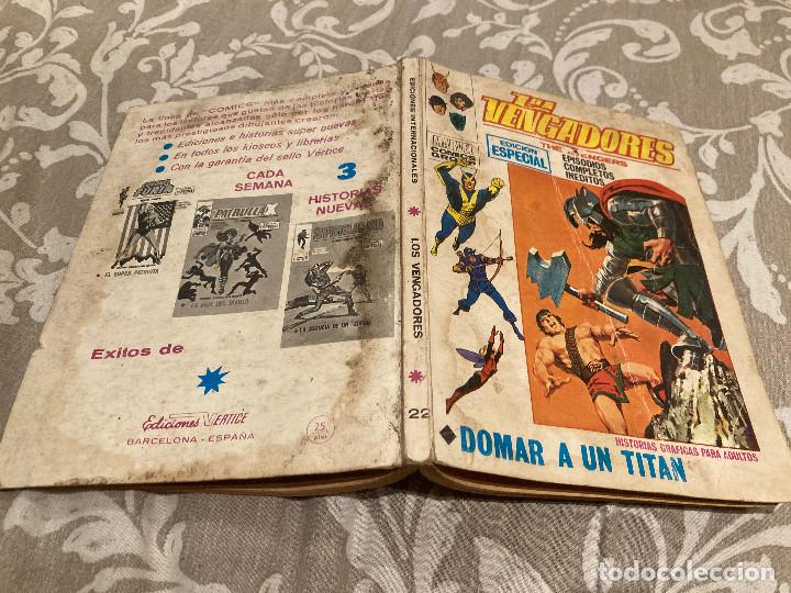 LOS VENGADORES VOL 1 Nº22 DOMAR UN TITAN - VERTICE 1971 (Tebeos y Comics - Vértice - Vengadores)