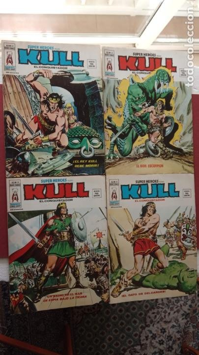SUPER HEROES PRESENTA : KULL - V 2 VÉRTICE NºS - 20,21,22,23 - MUY NUEVOS (Tebeos y Comics - Vértice - V.2)