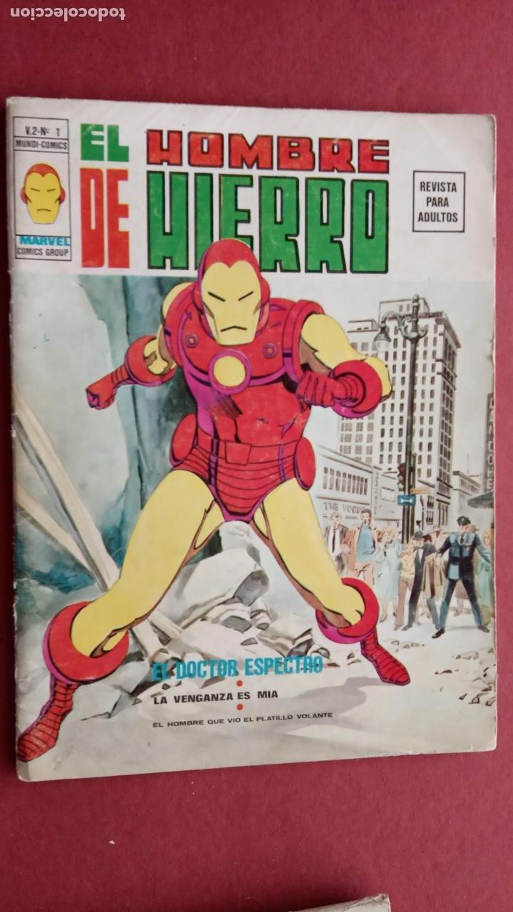 Cómics: EL HOMBRE DE HIERRO V 2 - COMPLETA - 1,2,3,4,5 - MAS EXTRA NAVIDAD Y EDICIÓN ESPECIAL -VÉRTICE 1974 - Foto 2 - 237406790