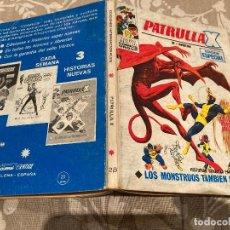 Comics: PATRULLA X VOL 1 Nº28 LOS MONSTRUOS TAMBIEN LLORAN - VERTICE 1971. Lote 237461335