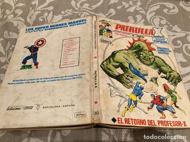 PATRULLA X VOL 1 Nº30 EL RETORNO DEL PROFESOR-X - VERTICE 1975 (Tebeos y Comics - Vértice - Patrulla X)