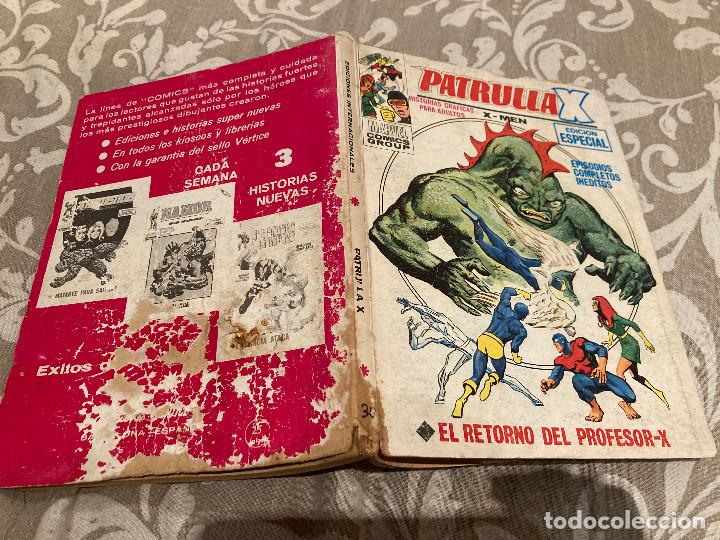 PATRULLA X VOL 1 Nº30 EL RETORNO DEL PROFESOR-X - VERTICE 1972 (Tebeos y Comics - Vértice - Patrulla X)