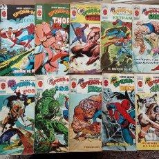 Cómics: SUPER HÉROES PRESENTA: LA COSA Y TIGRA,KAZAR,SATAN,VALKIRIA,H.HIERRO,LA MASA,H.COSA,C.AMÉRICA,HERCUL. Lote 237480205
