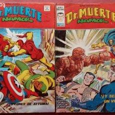 Cómics: SUPER HÉROES PRESENTA: DR. MUERTE Y NAMOR V 2 NºS - 67 Y 69 - VÉRTICE GRAPA 1974. Lote 237482215