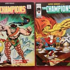 Cómics: SUPER HÉROES PRESENTA : THE CHAMPIONS EXTRA DE VERANO Vº 2 Nº 49 Y THE CHAMPIONS Vº 2 Nº 85. Lote 237483275