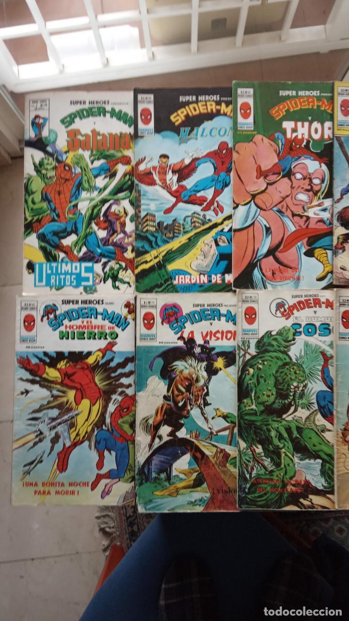 Cómics: SUPER HÉROES PRESENTA : SPIDER-MAN Y .. FRANKENSTEIN, DRÁCULA, DOC SAVAGE,H.COSA,LA VISIÓN,LA MASA, - Foto 2 - 237489915