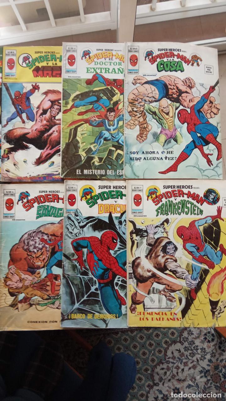 Cómics: SUPER HÉROES PRESENTA : SPIDER-MAN Y .. FRANKENSTEIN, DRÁCULA, DOC SAVAGE,H.COSA,LA VISIÓN,LA MASA, - Foto 3 - 237489915