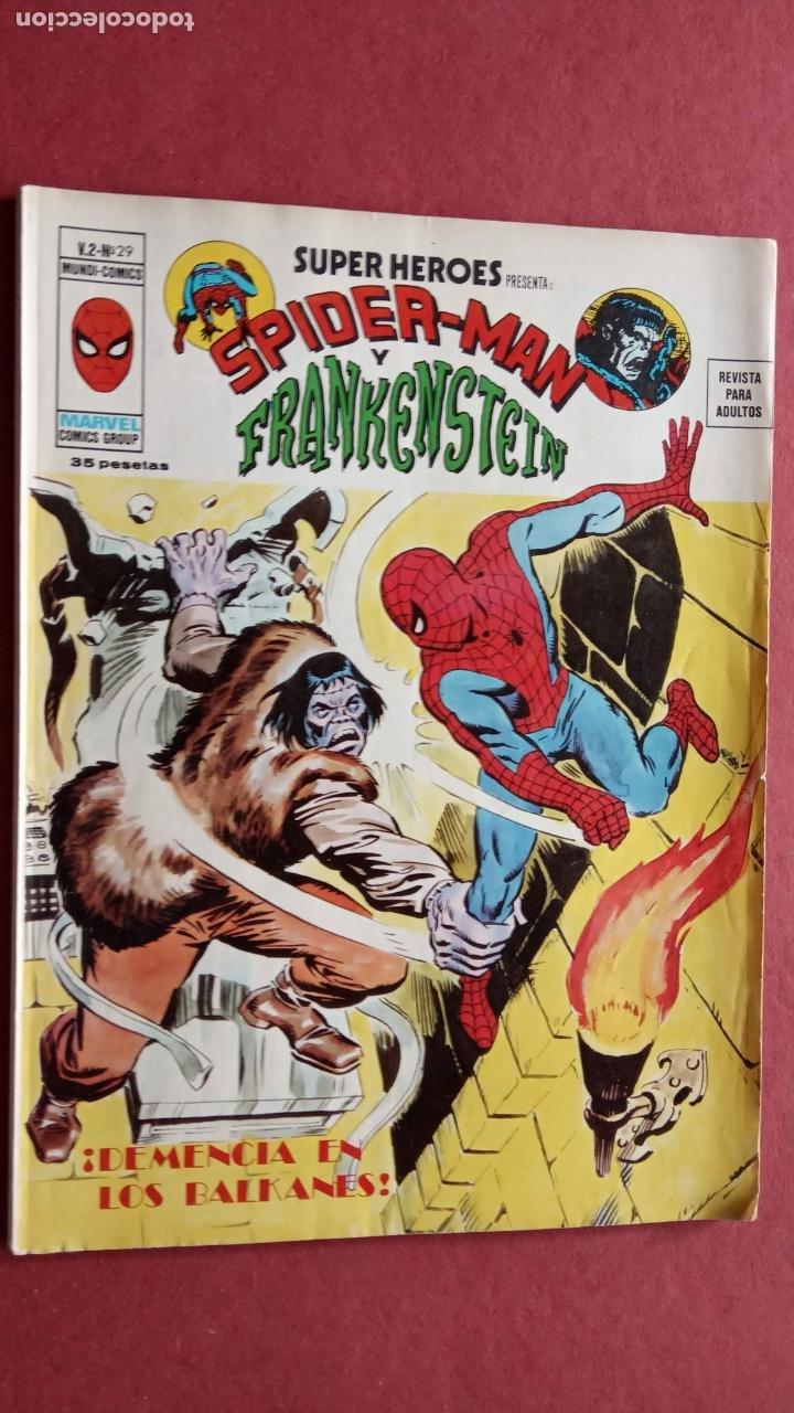 Cómics: SUPER HÉROES PRESENTA : SPIDER-MAN Y .. FRANKENSTEIN, DRÁCULA, DOC SAVAGE,H.COSA,LA VISIÓN,LA MASA, - Foto 4 - 237489915