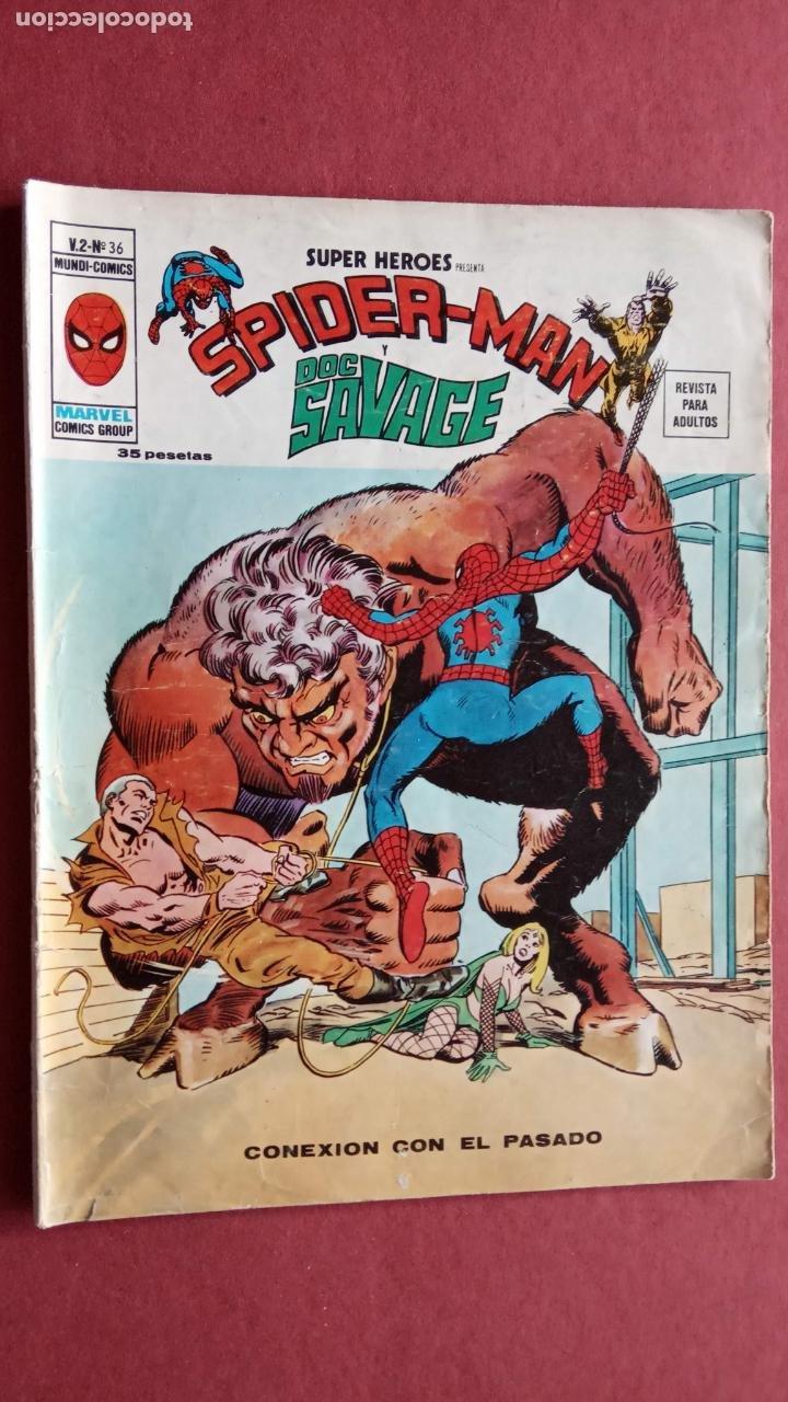 Cómics: SUPER HÉROES PRESENTA : SPIDER-MAN Y .. FRANKENSTEIN, DRÁCULA, DOC SAVAGE,H.COSA,LA VISIÓN,LA MASA, - Foto 6 - 237489915