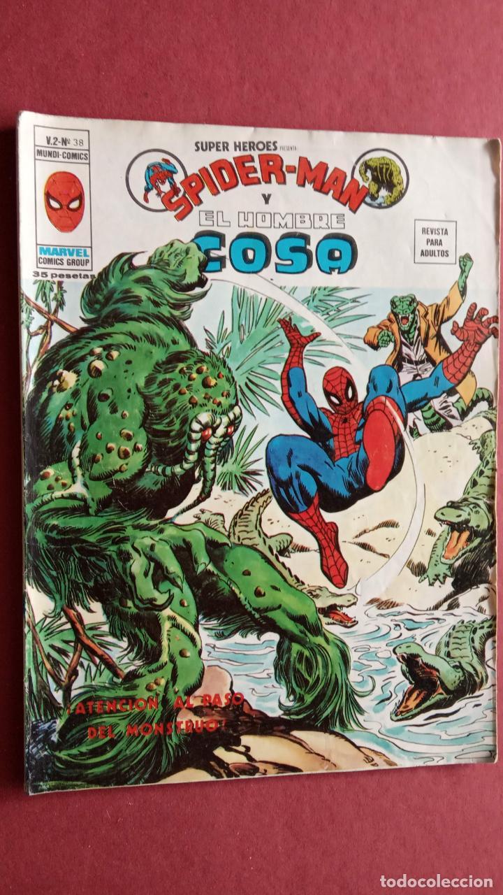 Cómics: SUPER HÉROES PRESENTA : SPIDER-MAN Y .. FRANKENSTEIN, DRÁCULA, DOC SAVAGE,H.COSA,LA VISIÓN,LA MASA, - Foto 7 - 237489915