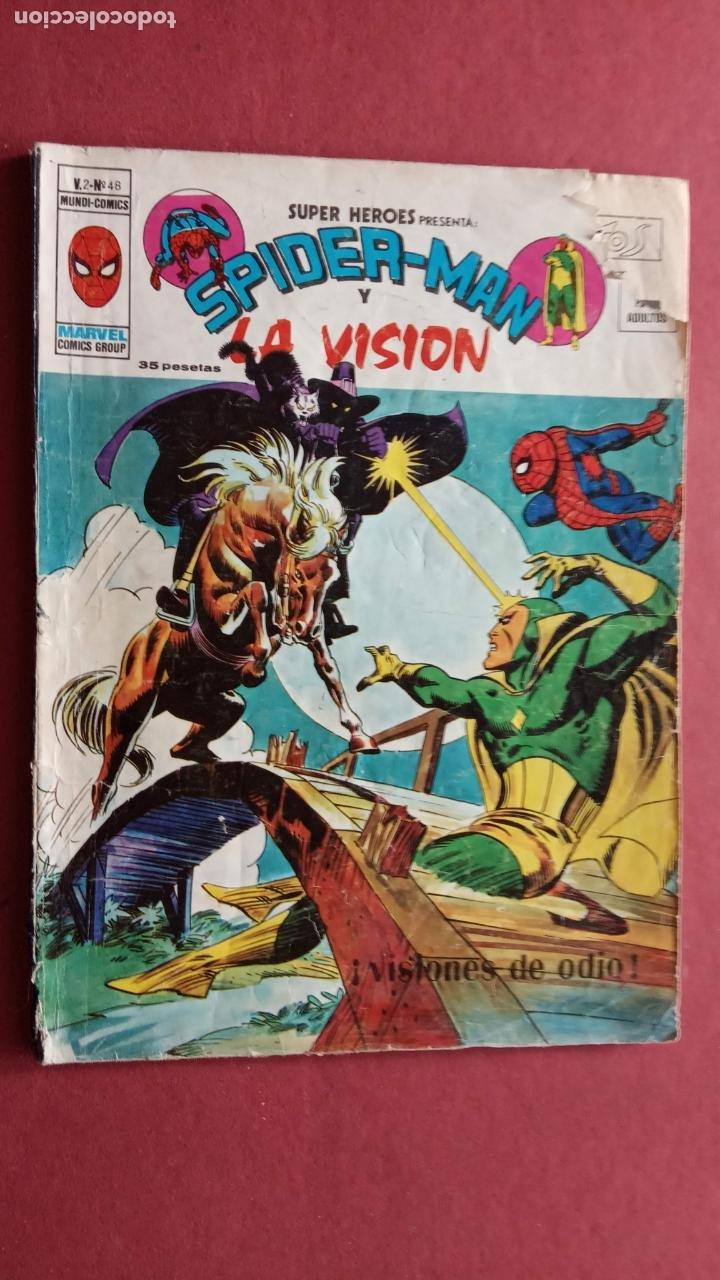 Cómics: SUPER HÉROES PRESENTA : SPIDER-MAN Y .. FRANKENSTEIN, DRÁCULA, DOC SAVAGE,H.COSA,LA VISIÓN,LA MASA, - Foto 8 - 237489915