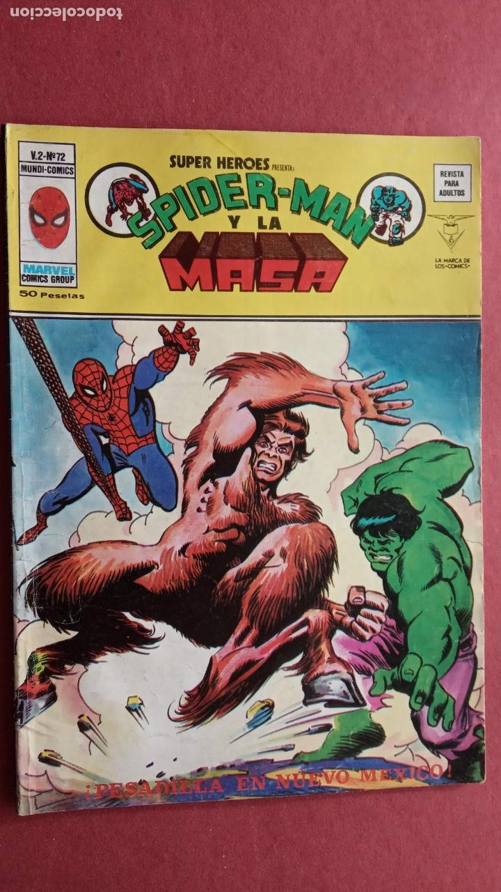 Cómics: SUPER HÉROES PRESENTA : SPIDER-MAN Y .. FRANKENSTEIN, DRÁCULA, DOC SAVAGE,H.COSA,LA VISIÓN,LA MASA, - Foto 12 - 237489915