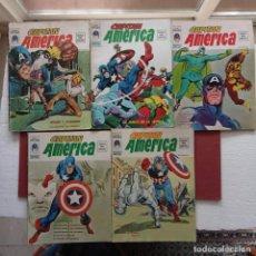 Cómics: EL CAPITÁN AMÉRICA Vº 2 NºS - 1,2,3,4,5 COMPLETA, EDI. VÉRTICE 1974 - GRAPA 27,5 X 20,5 CMS.. Lote 237500625