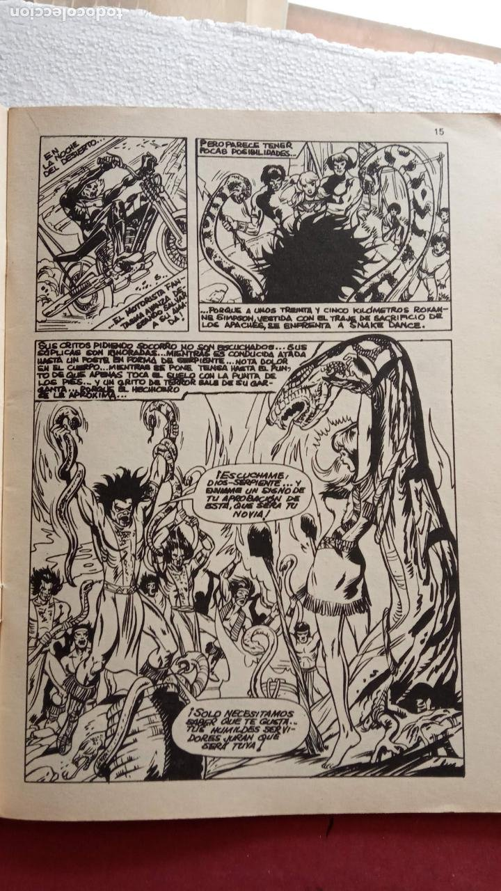 Cómics: SUPER HÈROES PRESENTA : Vº 2 Nº 3 EL MOTORISTA FANTASMA - 1974 EDI. VÉRTICE - Foto 4 - 237504555