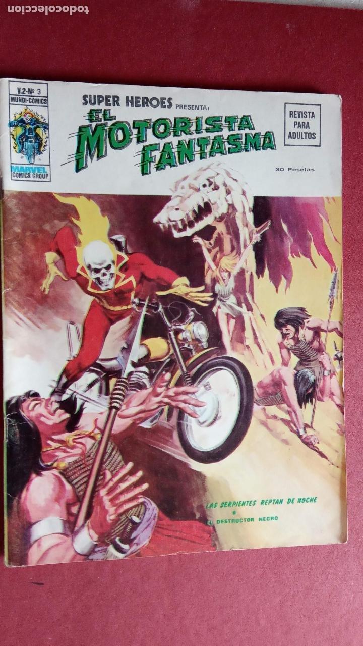 SUPER HÈROES PRESENTA : Vº 2 Nº 3 EL MOTORISTA FANTASMA - 1974 EDI. VÉRTICE (Tebeos y Comics - Vértice - V.2)