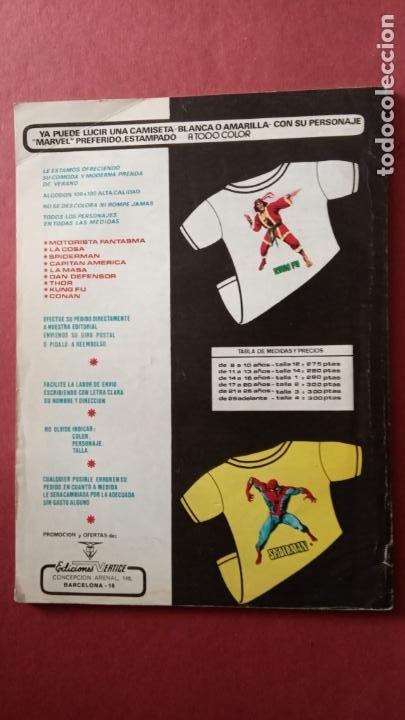 Cómics: SUPER HÉROES PRESENTA: Vº 2 Nº 53 EL MOTORISAT FANTASMA - EDI. VÈRTICE 1974 - REY KUL de ROY THOMAS - Foto 2 - 237510255