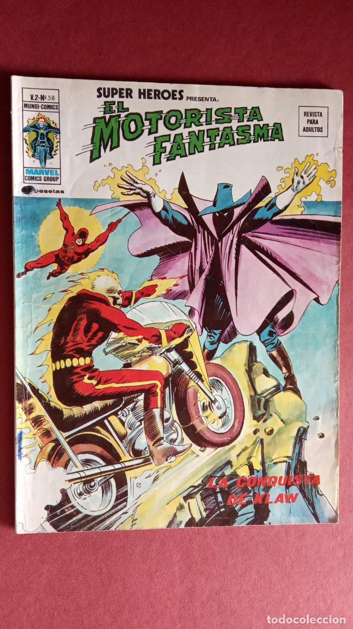 Cómics: SUPER HÉROES PRESENTA: Vº 2 Nº 58 - EL MOTORISTA FANTASMA - EDI. VÉRTICE 1974 - Foto 2 - 237511485