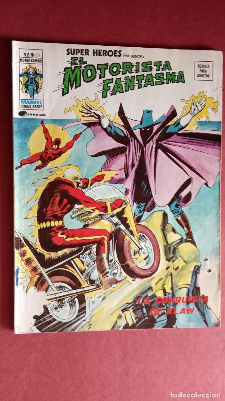 SUPER HÉROES PRESENTA: Vº 2 Nº 58 - EL MOTORISTA FANTASMA - EDI. VÉRTICE 1974 (Tebeos y Comics - Vértice - V.2)