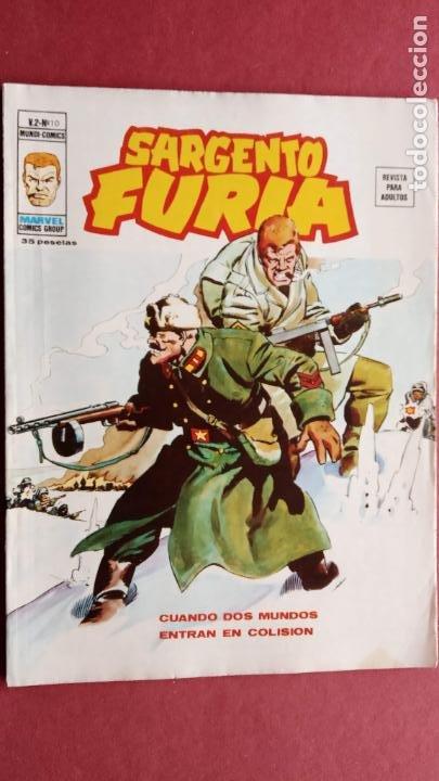 SARGENTO FURIA Vº 2 Nº 10 - EDI. VÉRTICE 1974 (Tebeos y Comics - Vértice - V.2)