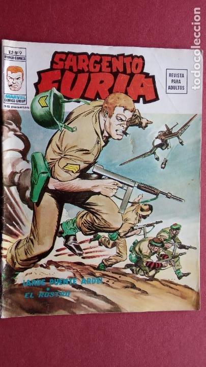 SARGENTO FURIA Vº 2 Nº 9 - EDI. VÉRTICE 1974 (Tebeos y Comics - Vértice - V.2)