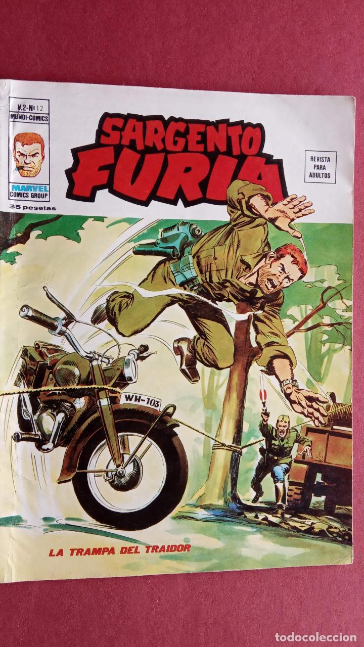SARGENTO FURIA Vº 2 Nº 12 EDI. VÉRTICE 1974 (Tebeos y Comics - Vértice - V.2)