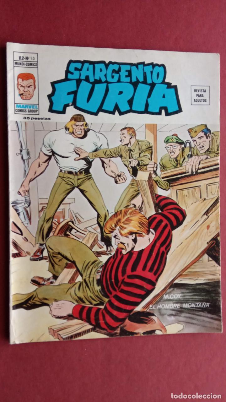 SARGENTO FURIA Vº 2 Nº 15 EDI. VÉRTICE 1974 (Tebeos y Comics - Vértice - V.2)
