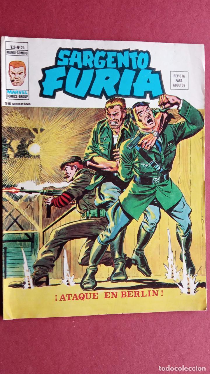 SARGENTO FURIA Vº 2 Nº 24 - EDI. VÉRTICE 1974 MUY BUEN ESTADO (Tebeos y Comics - Vértice - V.2)